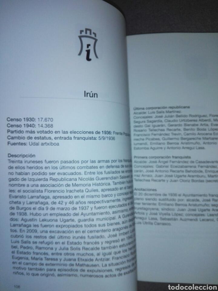Libros de segunda mano: GIPUZKOA DE AYUNTAMIENTOS REPUBLICANOS A ANARQUISTAS...1936-1937...2010 - Foto 7 - 194341416