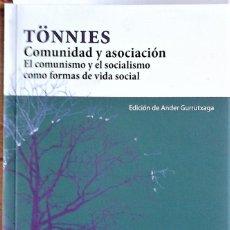 Libros de segunda mano: TÖNNIES - COMUNIDAD Y ASOCIACIÓN (EL COMUNISMO Y EL SOCIALISMO COMO FORMAS DE VIDA SOCIAL). Lote 194498721