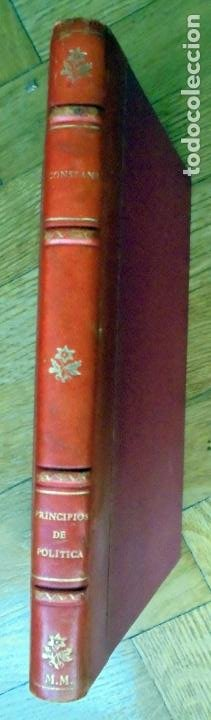 PRINCIPIOS DE POLÍTICA. BENJAMIN CONSTANT.EDITORIAL AMERICALEE.1943 (Libros de Segunda Mano - Pensamiento - Política)