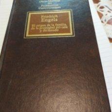 Libros de segunda mano: EL ORIGEN DE LA FAMILIA,DE LA PROPIEDAD PRIVADA Y DEL ESTADO. Lote 194509776
