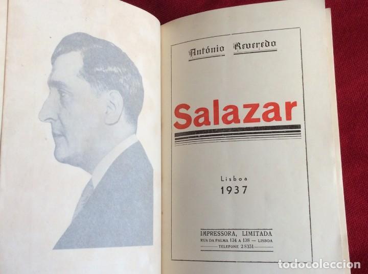 REVEREDO, ANTONIO - SALAZAR. AÑO 1937. RARO. ENVIO GRÁTIS. (Libros de Segunda Mano - Pensamiento - Política)