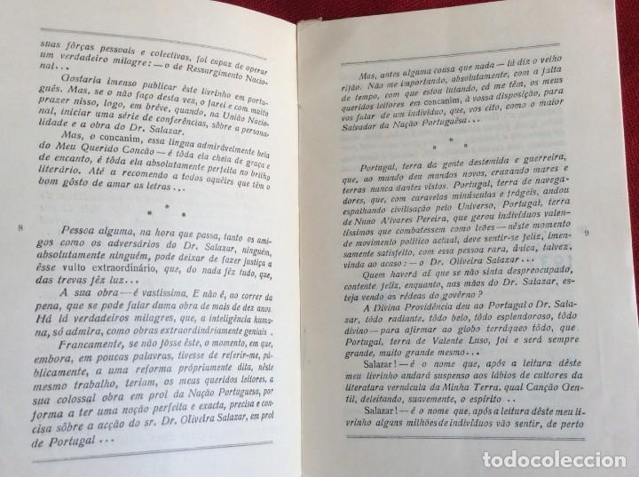 Libros de segunda mano: REVEREDO, Antonio - Salazar. Año 1937. Raro. Envio grátis. - Foto 4 - 194544320