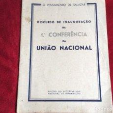 Libros de segunda mano: EL PENSAMIENTO DE SALAZAR. DISCURSO DE INAUGURAC. DE LA PRIMERA CONFER. DE LA UNIÓN NACIONAL, 1946. Lote 194593673