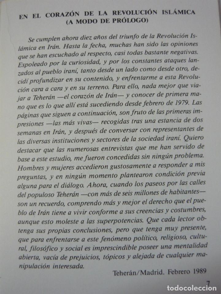 Libros de segunda mano: IRÁN DEFENSA DE UNA REVOLUCIÓN. JAVIER ONRUBIA REBUELTA - Foto 2 - 236931005
