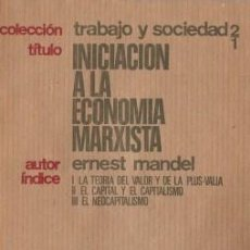 Libros de segunda mano: INICIACIÓN A LA ECONOMÍA MARXISTA - MANDEL, ERNEST - NOVA TERRA 1974. Lote 194765672