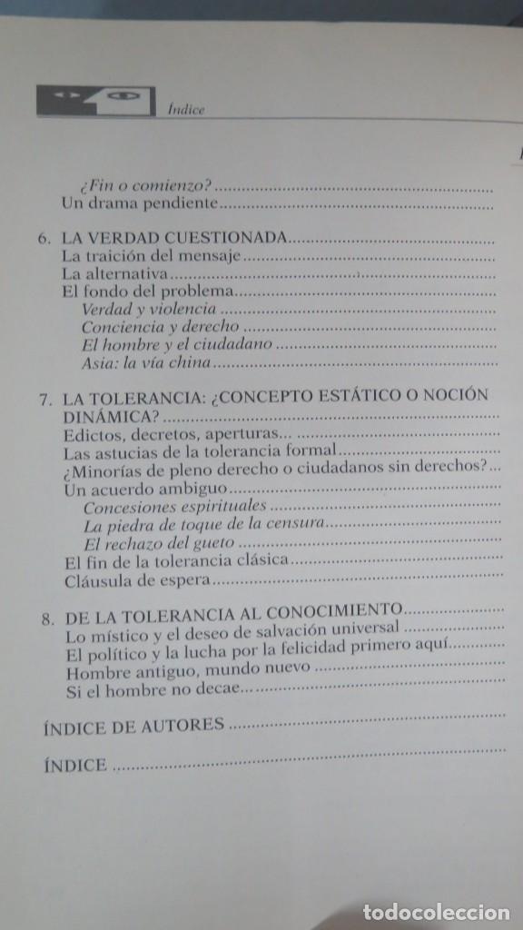 Libros de segunda mano: LA TOLERANCIA. ANTOLOGIA DE TEXTOS - Foto 3 - 194865692