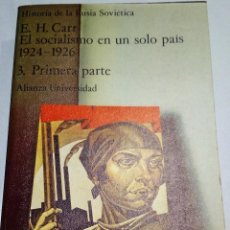 Libros de segunda mano: 1976. EL SOCIALISMO EN UN SOLO PAÍS. E.H. CARR. ALIANZA EDITORIAL. HISTORIA. POLÍTICA. SOCIOLOGÍA.. Lote 194866925
