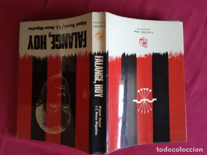 Libros de segunda mano: Falange, hoy- Miguel Veyrat/ José Luis Navas. - Foto 2 - 194898681