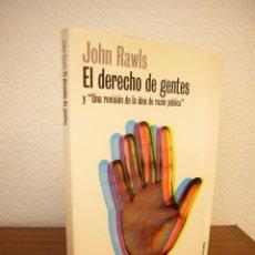 Libros de segunda mano: JOHN RAWLS: EL DERECHO DE GENTES (PAIDÓS, 2001) MUY RARO. Lote 194953965