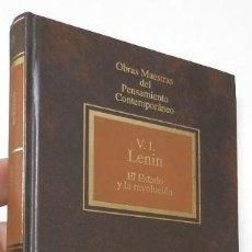 Libros de segunda mano: EL ESTADO Y LA REVOLUCIÓN - V.I. LENIN. Lote 195106908