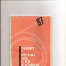 Libros de segunda mano: 1212. PREGUNTAS Y RESPUESTAS SOBRE EL PLAN DE DESARROLLO. Lote 195114561