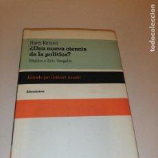 Libros de segunda mano: HANS KELSEN , ¿ UNA NUEVA CIENCIA DE LA POLITICA ? REPLICA A VOEGELIN. Lote 195152982