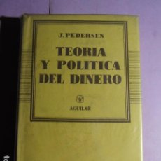 Libros de segunda mano: TEORIA Y POLITICA DEL DINERO; PEDERSEN, J.. Lote 195161822