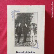 Libros de segunda mano: ESCRITOS SOBRE DEMOCRACIA Y SOCIALISMO-FERNANDO DE LOS RÍOS.. Lote 195177823