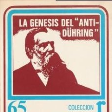 Libros de segunda mano: LA GENESIS DEL ANTI-DÜHRING - ENGELS, FEDERICO & MARX, CARLOS & RIAZANOV, DAVID - 1976. Lote 195256255