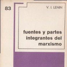 Libros de segunda mano: FUENTES Y PARTES INTEGRANTES DEL MARXISMO - LENIN, V.I. - GRIJALBO (MÉXICO D.F.) 1970. Lote 195275745
