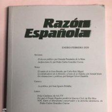 Libros de segunda mano: RAZÓN ESPAÑOLA. Nº 219. ENERO-FEBRERO 2020. Lote 195355141
