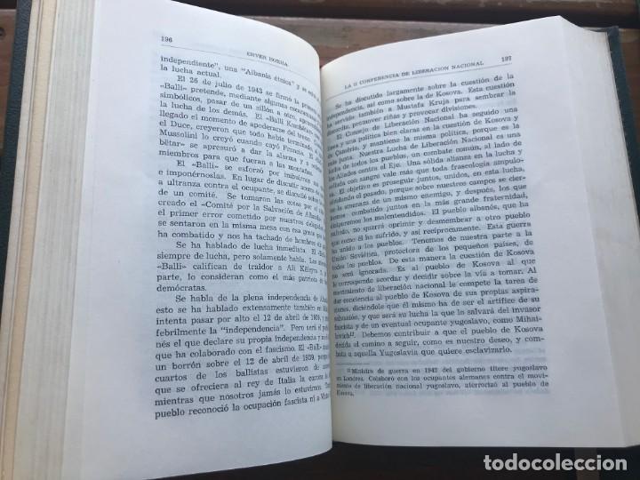Libros de segunda mano: Enver Hoxha: OBRAS ESCOGIDAS. 5 Tomos - Foto 6 - 195487278
