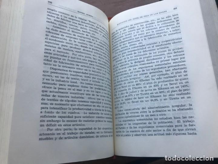 Libros de segunda mano: Enver Hoxha: OBRAS ESCOGIDAS. 5 Tomos - Foto 7 - 195487278