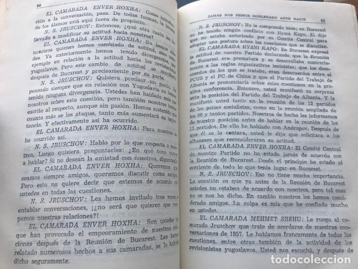 Libros de segunda mano: Enver Hoxha: OBRAS ESCOGIDAS. 5 Tomos - Foto 5 - 195487278