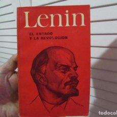 Libros de segunda mano: LENIN EL ESTADO Y LA REVOLUCION 1970 MOSCU EDITORIAL PROGRESO. Lote 195879910