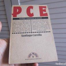 Libros de segunda mano: PCE PARTIDO COMUNISTA DE ESPAÑA SANTIAGO CARRILLO AÑO 1976 SERIE POLÍTICA 9 AVANCE MAÑANA P.C.E.. Lote 196051917
