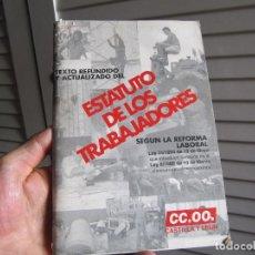 Libros de segunda mano: ESTATUTO DE TRABAJADORES SEGUN LA REFORMA LABORAL CASTILLA Y LEON 1994. Lote 196174980