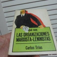 Libros de segunda mano: QUE SON LAS ORGANIZACIONES MARXISTA LENINISTAS. C. TRIAS BIBLIOTECA DE DIVULGACIÓN POLÍTICA.. Lote 196557556