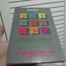 Libros de segunda mano: NOTAS SINDICALES DOCUMENTOS APROBADOS EN EL 5 CONGRESO DE LA UNION REGIONAL COMISIONES OBRERAS. Lote 197373792