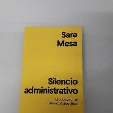 Livros em segunda mão: SILENCIO ADMINISTRATIVO - SARA MESA - LA POBREZA EN EL LABERINTO BUROCRÁTIO - CUADERNOS ANAGRAMA 14. Lote 197390241