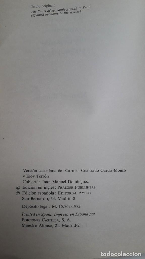Libros de segunda mano: LOS LIMITES DEL CRECIMIENTO ECONOMICO EN ESPAÑA: 1959-1967. MANUEL ROMAN. ED. AYUSO, 1972 - Foto 2 - 199420373