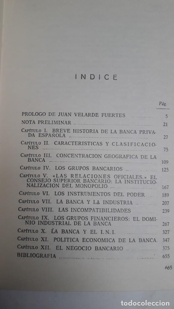 Libros de segunda mano: EL PODER DE LA BANCA EN ESPAÑA - JUAN MUÑOZ. EDITORIAL ZERO 2ª EDICION 1970 - Foto 3 - 199420918
