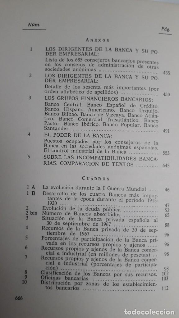 Libros de segunda mano: EL PODER DE LA BANCA EN ESPAÑA - JUAN MUÑOZ. EDITORIAL ZERO 2ª EDICION 1970 - Foto 4 - 199420918