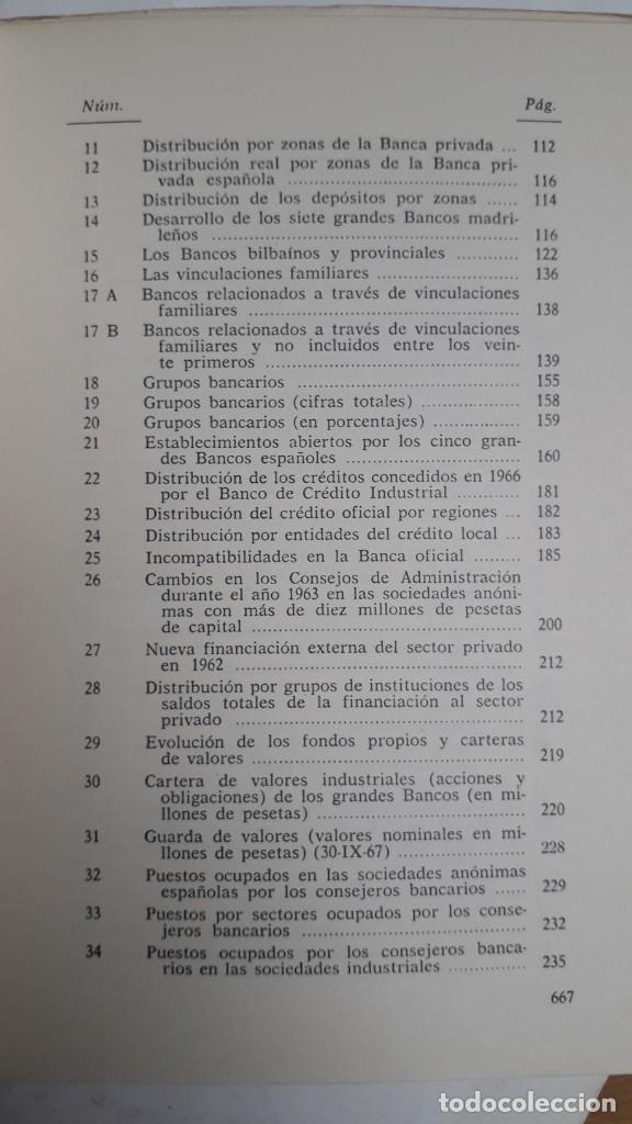 Libros de segunda mano: EL PODER DE LA BANCA EN ESPAÑA - JUAN MUÑOZ. EDITORIAL ZERO 2ª EDICION 1970 - Foto 5 - 199420918
