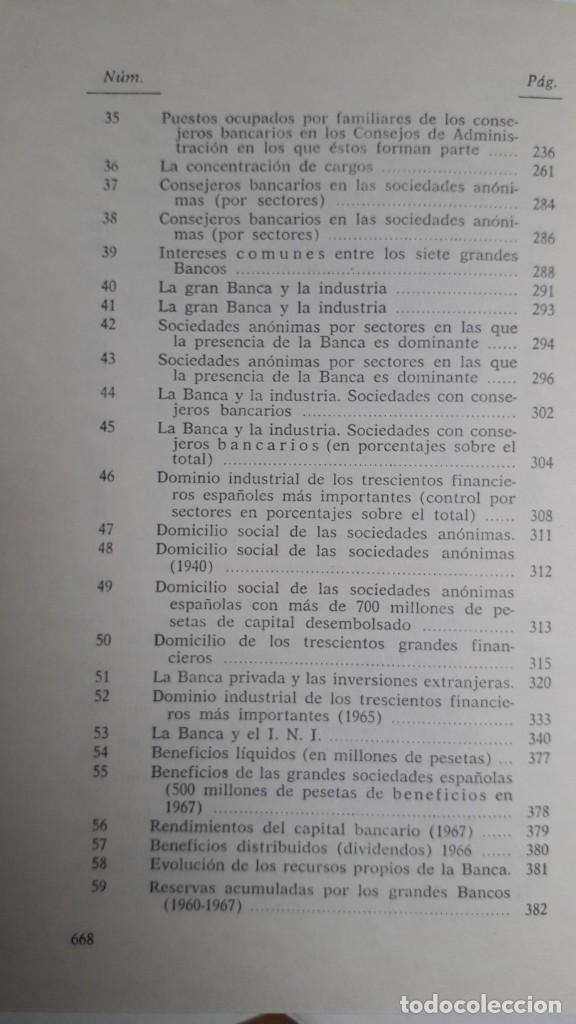 Libros de segunda mano: EL PODER DE LA BANCA EN ESPAÑA - JUAN MUÑOZ. EDITORIAL ZERO 2ª EDICION 1970 - Foto 6 - 199420918