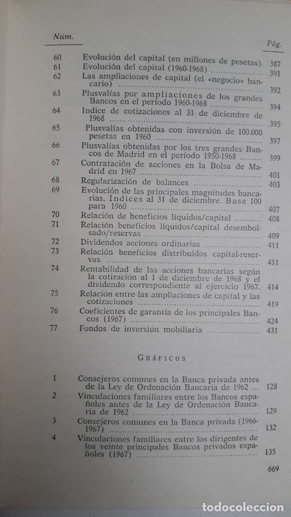 Libros de segunda mano: EL PODER DE LA BANCA EN ESPAÑA - JUAN MUÑOZ. EDITORIAL ZERO 2ª EDICION 1970 - Foto 7 - 199420918