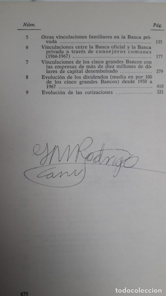 Libros de segunda mano: EL PODER DE LA BANCA EN ESPAÑA - JUAN MUÑOZ. EDITORIAL ZERO 2ª EDICION 1970 - Foto 8 - 199420918