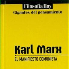 Libros de segunda mano: EL MANIFIESTO COMUNISTA - KARL MARX. Lote 200894345