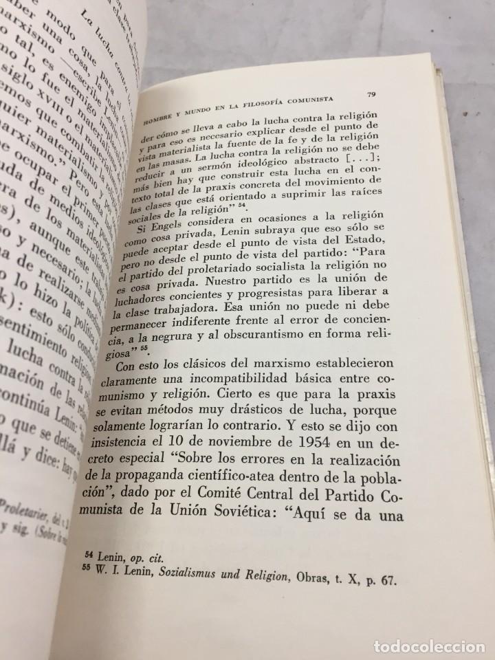 Libros de segunda mano: HOMBRE Y MUNDO EN LA FILOSOFÍA COMUNISTA Gustav Andreas Wetter, Editorial Sur Buenos Aires 1965 - Foto 6 - 204707431