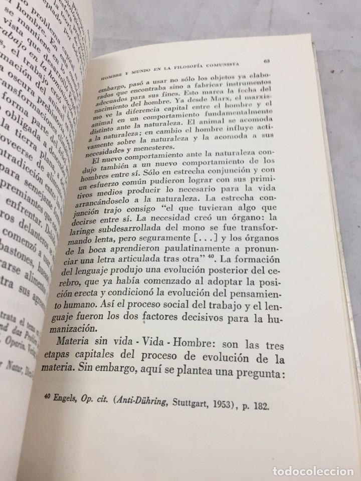 Libros de segunda mano: HOMBRE Y MUNDO EN LA FILOSOFÍA COMUNISTA Gustav Andreas Wetter, Editorial Sur Buenos Aires 1965 - Foto 8 - 204707431
