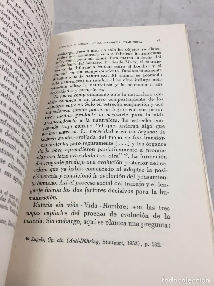 Libros de segunda mano: HOMBRE Y MUNDO EN LA FILOSOFÍA COMUNISTA Gustav Andreas Wetter, Editorial Sur Buenos Aires 1965 - Foto 9 - 204707431