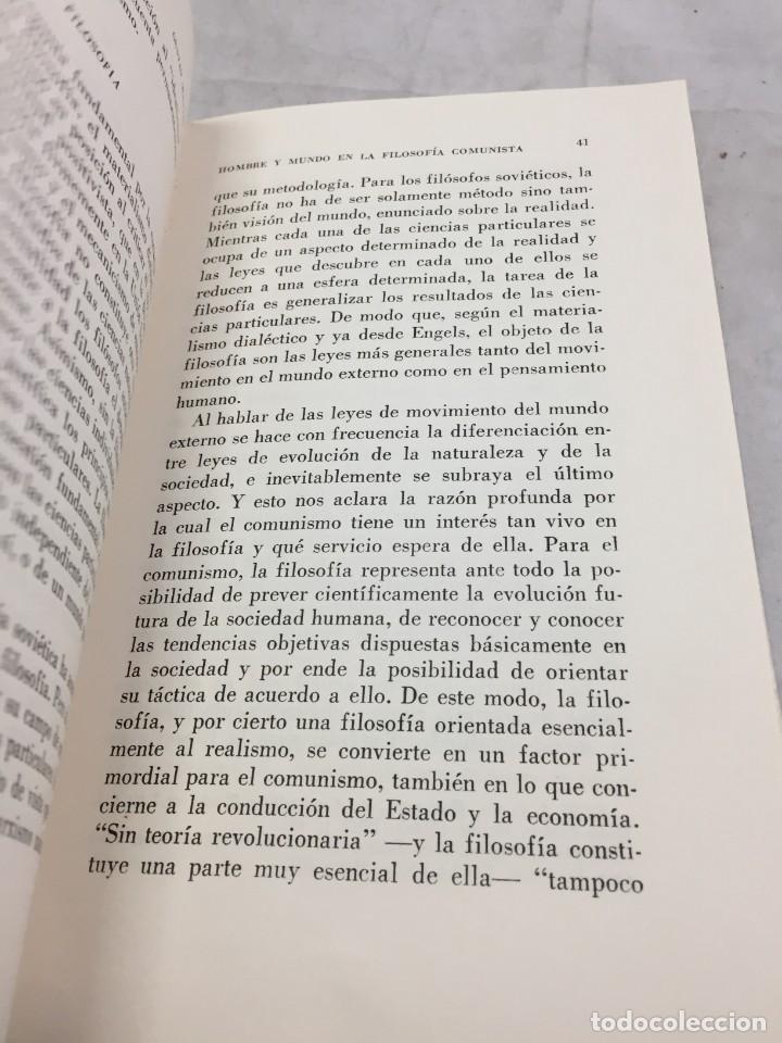 Libros de segunda mano: HOMBRE Y MUNDO EN LA FILOSOFÍA COMUNISTA Gustav Andreas Wetter, Editorial Sur Buenos Aires 1965 - Foto 10 - 204707431