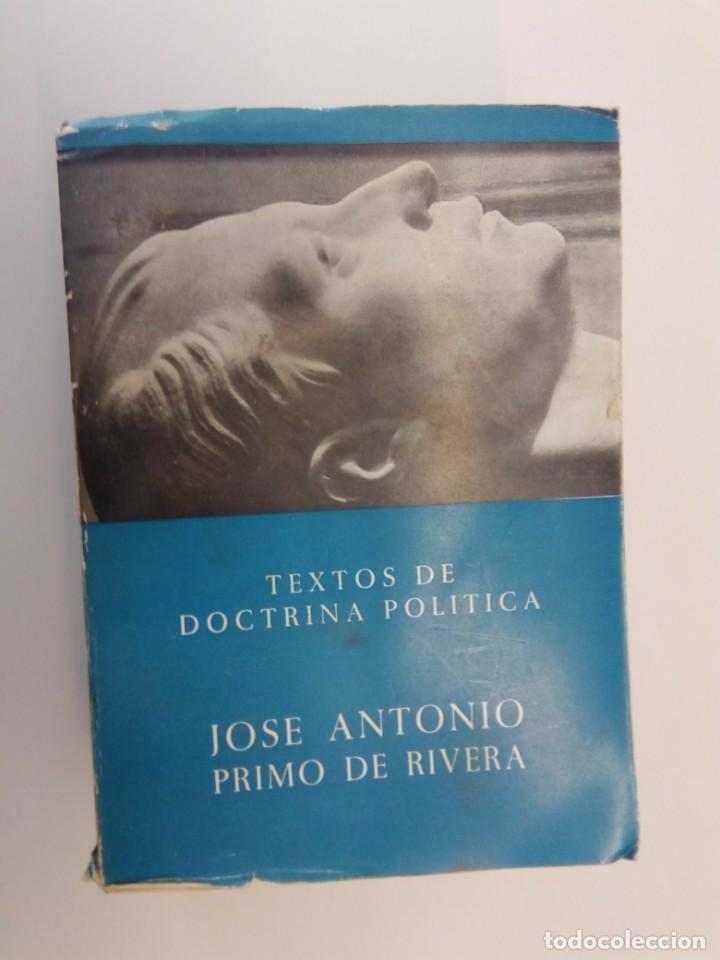 TEXTOS DE DOCTRINA POLÍTICA - JOSÉ ANTONIO PRIMO DE RIVERA (Libros de Segunda Mano - Pensamiento - Política)