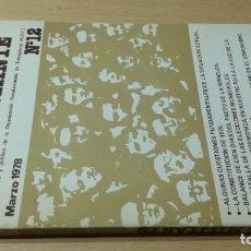 Libros de segunda mano: ORT EL MILITANTE N 12 1978 ORGANIZACIÓN REVOLUCIONARIA DE TRABAJADORES / T202. Lote 205069891