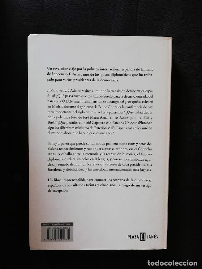 Libros de segunda mano: LOS PRESIDENTES Y LA DIPLOMACIA - INOCENCIO ARIAS - Foto 2 - 205169548