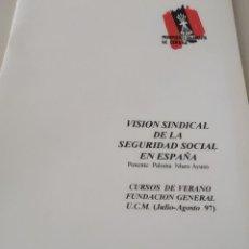 Libros de segunda mano: MOVIMIENTO FALANGISTA DE ESPAÑA. CUADERNOS FORMACIÓN. VISION SINDICAL DE LA SEG. SOCIAL REF. GAR 50. Lote 205282015