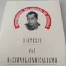 Libri di seconda mano: MOVIMIENTO FALANGISTA DE ESPAÑA. CUADERNOS FORMACIÓN. SINTESIS DEL NACIONAL-SINDICALISMO. Lote 205282186