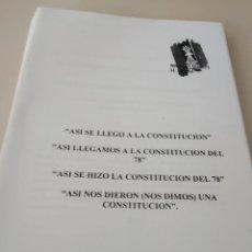 Libros de segunda mano: MOVIMIENTO FALANGISTA DE ESPAÑA. CUADERNOS FORMACIÓN. ASI SE LLEGÓ A LA CONSTITUCION DEL 78. Lote 205287260