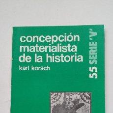 Libros de segunda mano: KORSCH, KARL. - CONCEPCIÓN MATERIALISTA DE LA HISTORIA. ZERO. COLECCION LEE Y DISCUTE Nº 55. TDK193. Lote 206591867