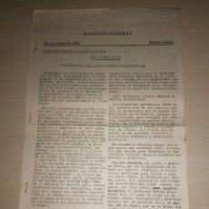Libros de segunda mano: PARTIDO COMUNISTA DE ESPAÑA - BOLETÍN INTERNO - Nº 1 - JUNIO DE 1961. Lote 207144518